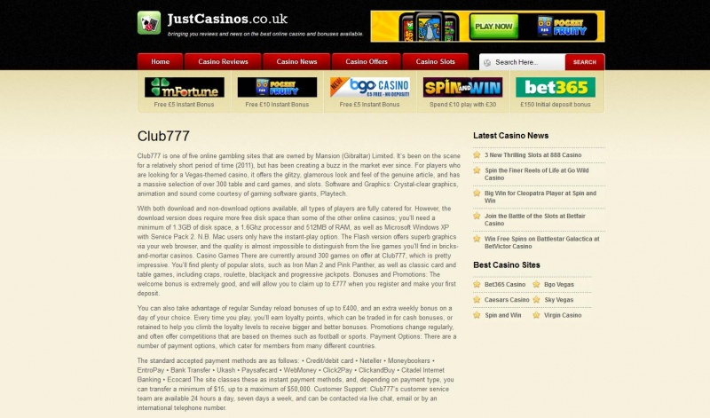 Casino Site Reviews for Just Casinos