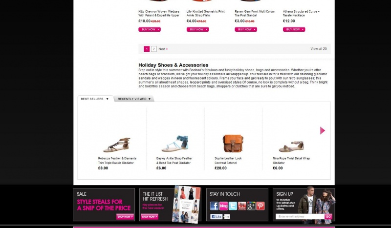 Clothing Department Overviews for Boohoo.com